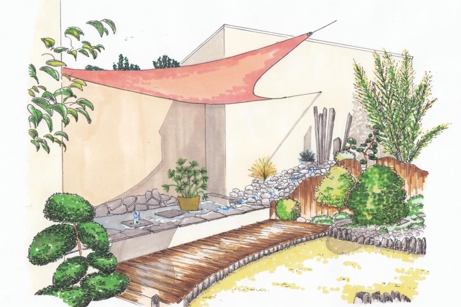 Jardin m diterran en archives page 2 sur 3 atelier for Croquis jardin paysager