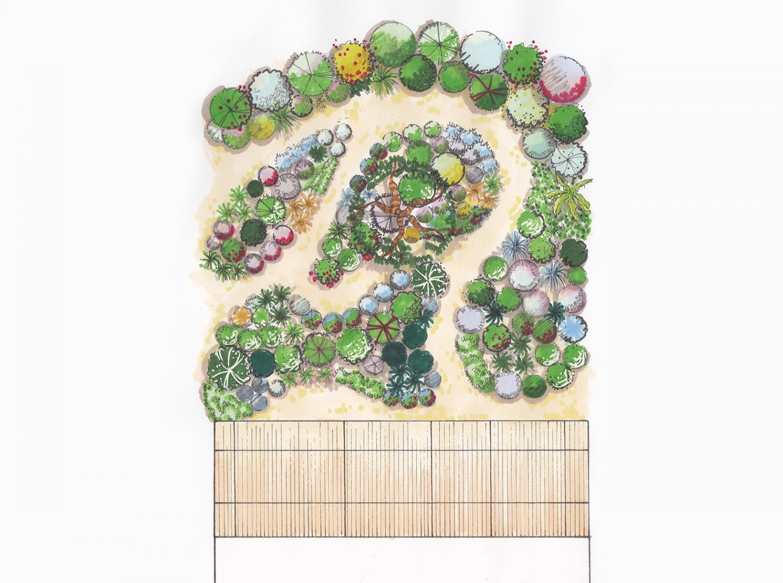 projet jardin sec mediterraneen montpellier