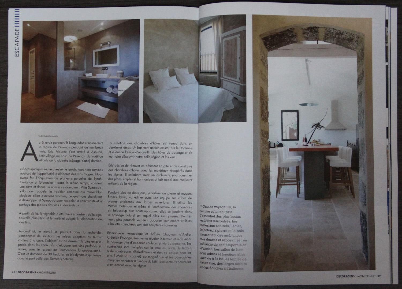 Article Décor & Sens Villa Symposia