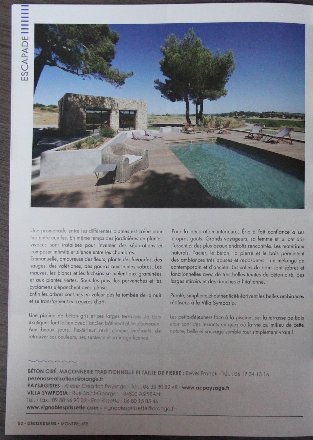 Villa symposia - jardin réalisé par Atelier Création Paysage - paysagiste Montpellier