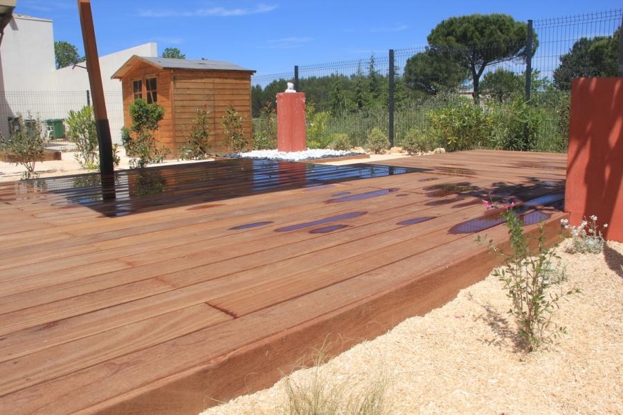 Terrasse bois exotique Montarnaud