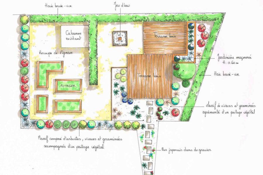 Paysagiste montpellier - plan aménagement jardin